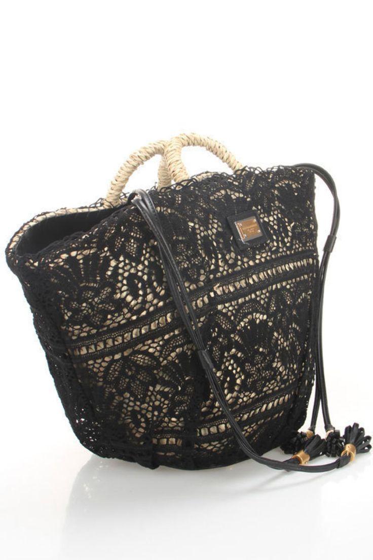 Dolce & Gabbana Coffa Pizzo Shopping Bag
