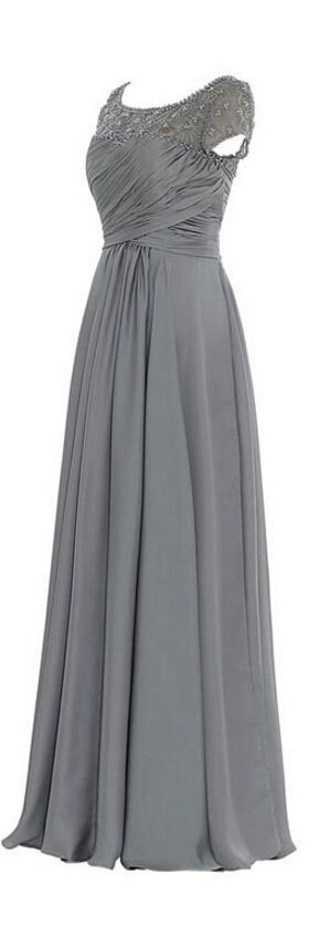 Grey mother of the bride dresses,mother dresses 2016,chiffon wedding party dress ,long mother 's dresses