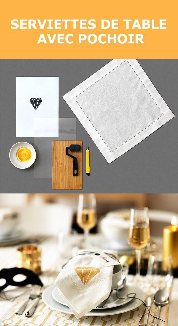 Envie d'ajouter une touche de fantaisie à votre table? Donnez à vos serviettes de table un petit plus haut en couleur. Consultez ce guide pour réaliser un motif sur vos serviettes à l'aide d'un pochoir. Vous pourriez bien devenir une vedette du bricolage tendance auprès de vos invités.