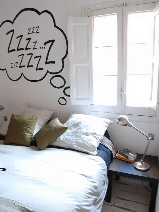 #FresnoNewHomes sleepy diy decorations-- I would get 'chalkboard paint' from Walmart and write something like this every night/day. (:
