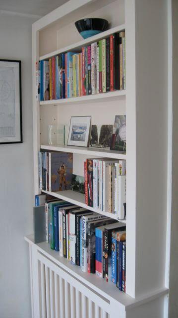 Radiator bookshelf transformation - love it love it love it. Probably not good for the books, but still I love it.