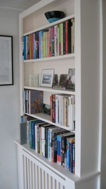 Radiator bookshelf transformation - love it love it love it.  Probably not good for the books, but still I love it.