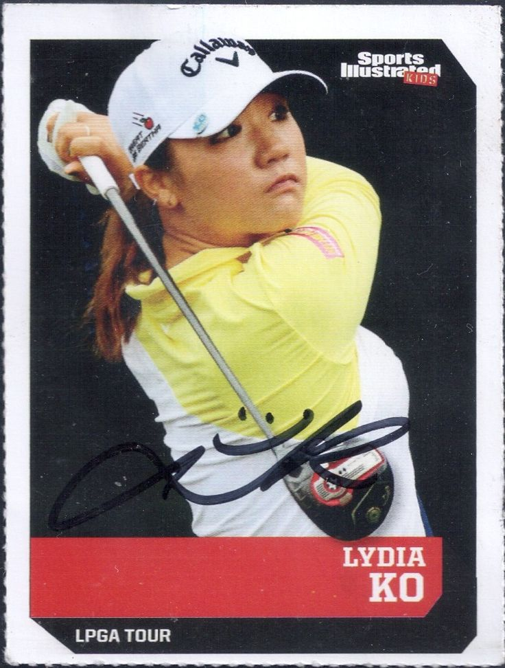 Sports Illustrated for Kids Lydia Ko autograph
