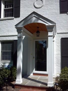 Best Exterior Front Entrance Images On Pinterest Porch - Colonial portico front entrance