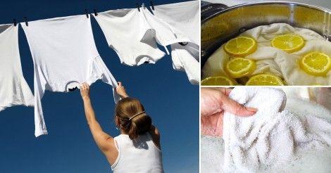 Cómo blanquear la ropa con 8 fáciles trucos