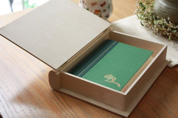 "12"" Keepsake Book Box, Book Box, Unfinished Wood Box, Bible Box, Decorative Book…"