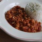 Cícer v lahodnej paradajkovej omáčke s jasmínovou ryžou
