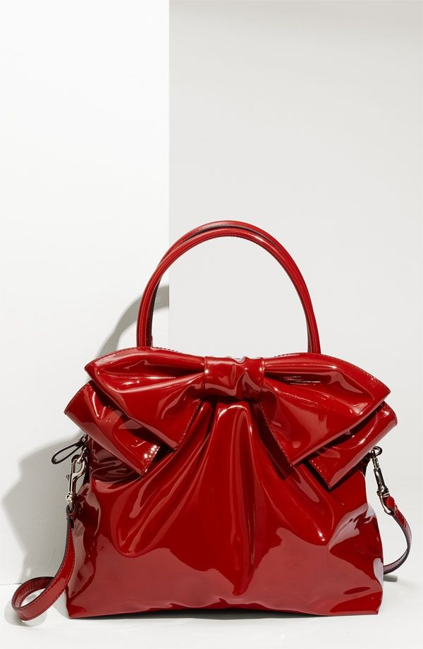 Valentino 'New Dome' Satchel - love purses with bows the color looks great too