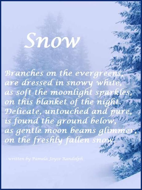 """Snow"" - an original poem about winter written by Pamela Joyce Randolph (Arizona Poet Lady)"