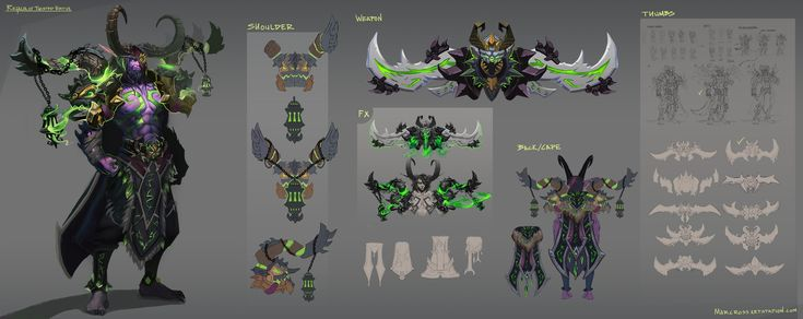 Demon Hunter Armor set. This is a fan piece. Can't wait for Legion! I am not prepared! :P