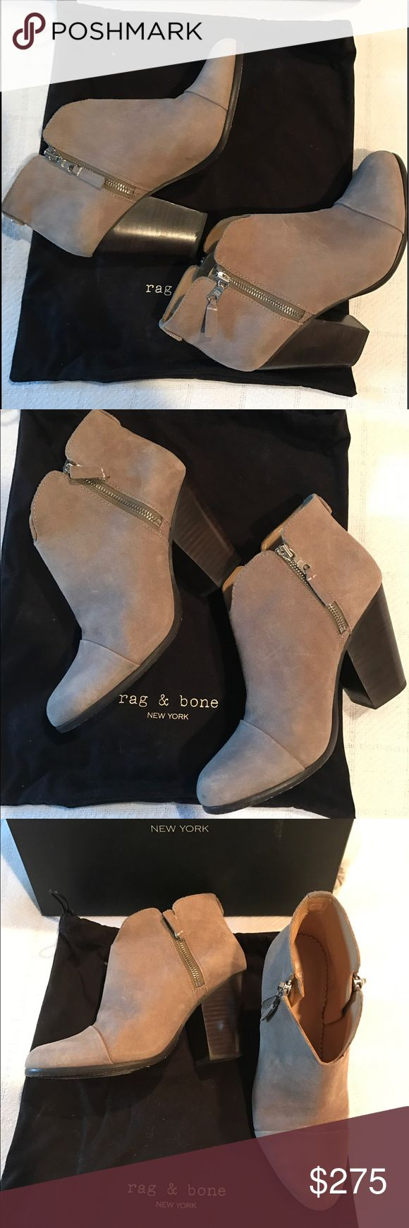 Rag & Bone Booties Women's size 8 MARGOT BOOT, side zip. I wore these prob about 5-7 times.  RAG & BONE! Color is Stone Waxy, comes with original box and dust bag. Rag & Bone Shoes Ankle Boots & Booties