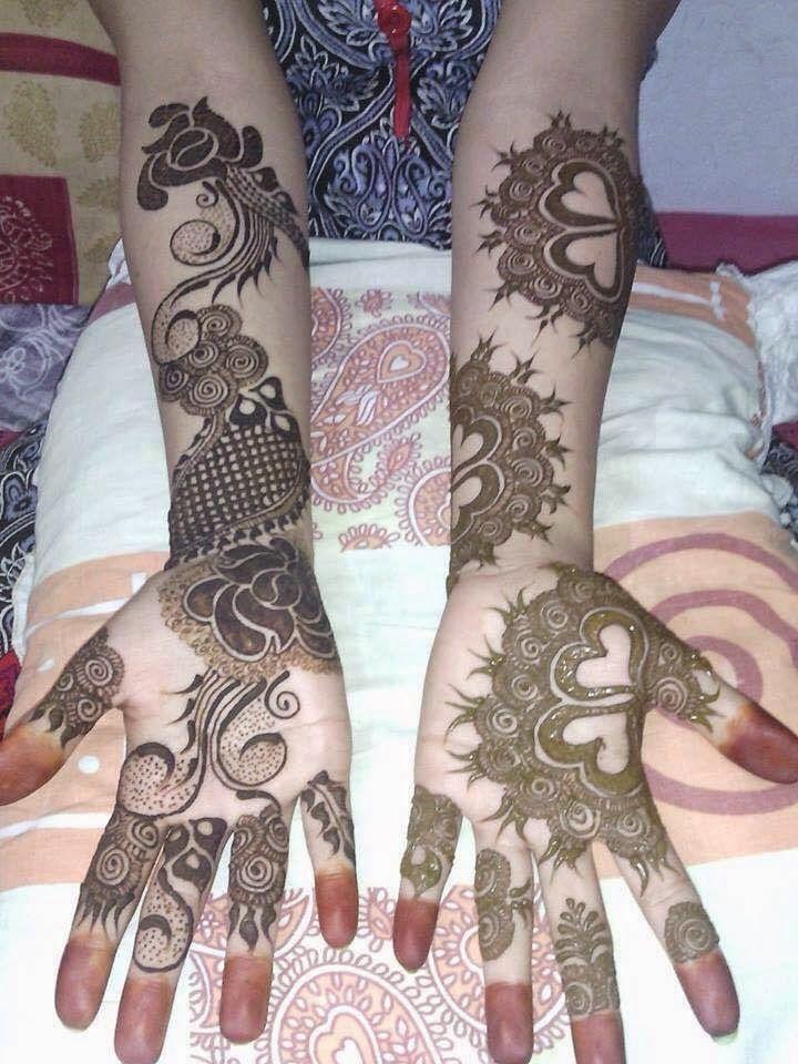 Arabic henna design.
