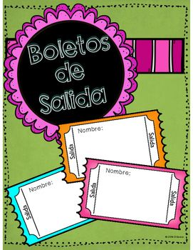 Boletos de Salida, or exit tickets, are a great tool for wrapping up your Spanish class. These tickets are very flexible and may be used across many grade levels and in different ways. For grades Kindergarten and above, I typically give them a word orally & they write it on their ticket.