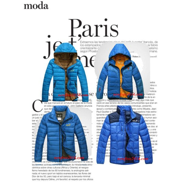"""""""Royal Blue Jack Wolfskin Mens Down Jackets For Cheap"""" by trendmaven-759 on Polyvore"""