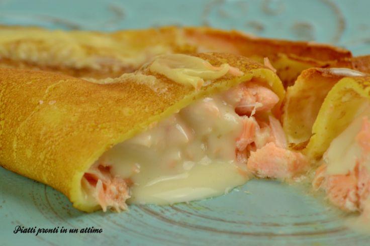Le CRESPELLE AL SALMONE sono abbastanza semplici da preparare ed hanno un gusto davvero molto particolare ed appetitoso; sono perfette per le feste.