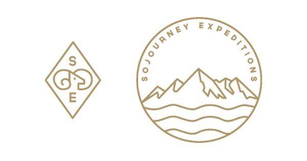 Circular mountain logo. Logo with mountain. Adventure company logo ...