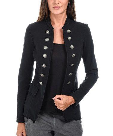 Look at this #zulilyfind! Black Military Jacket #zulilyfinds