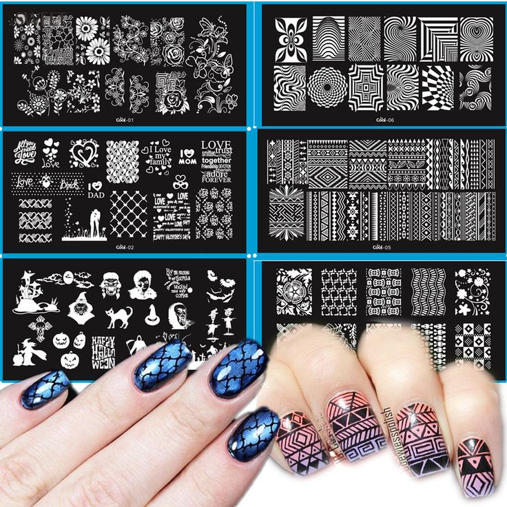 Buy 1pcs Geometric/Flower Nail Art Stamp Stamping Image Plate 6*12cm Stainless Steel Template Manicure Stencil Tools LesCool01-20 at JacLauren.com