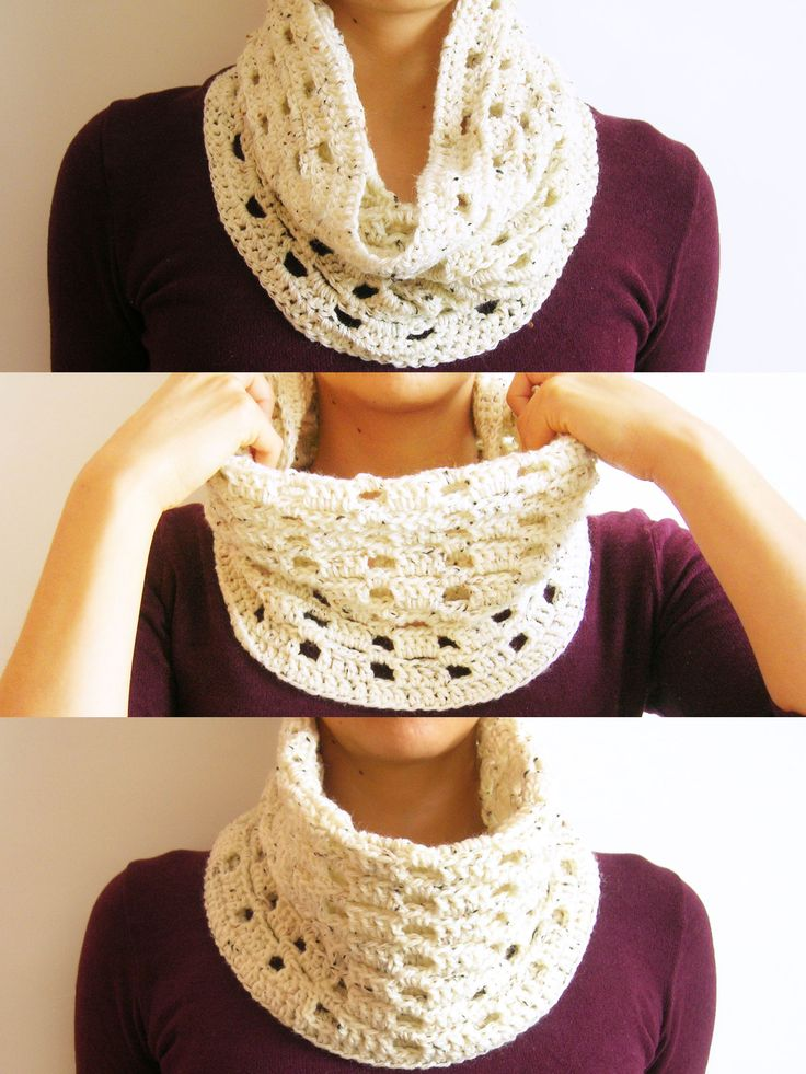 Crochet basic cowl/ Cuello básico tejido Tutorial ☆•★Teresa Restegui http://www.pinterest.com/teretegui/★•☆