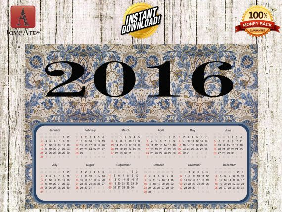 Hey, I found this really awesome Etsy listing at https://www.etsy.com/listing/257057205/instant-download-calendar-2016-william