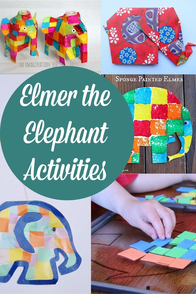 Elmer The Elephant Activities and Crafts for Kids - Crafts on Sea