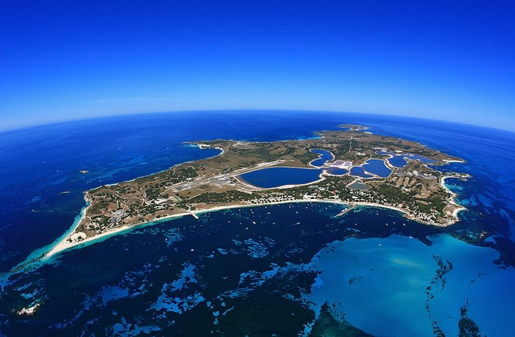#pinforpoints Rottnest Island, Panoramic Aerial View. Western Australia