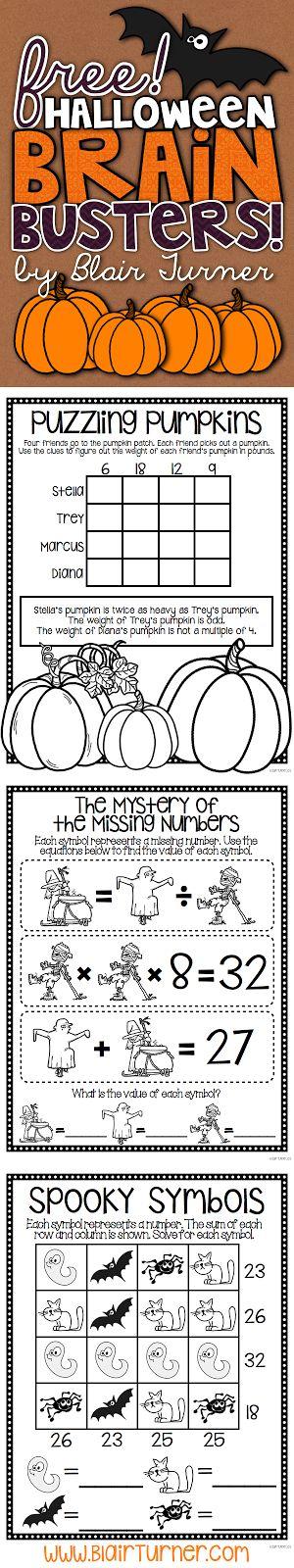 Free Halloween Brain Busters - BlairTurner.com