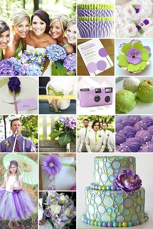 green and purple wedding ideas for the coal reserve - Vert Et Violet