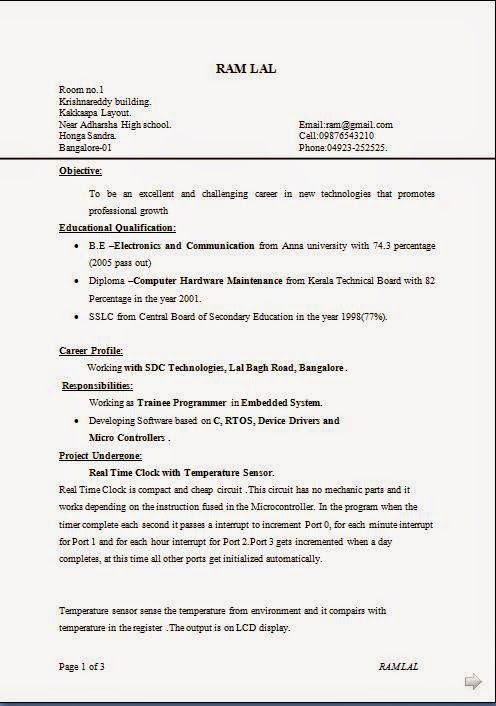 make my resume Download Free Excellent CV \/ Resume \/ Curriculum - iti resume format