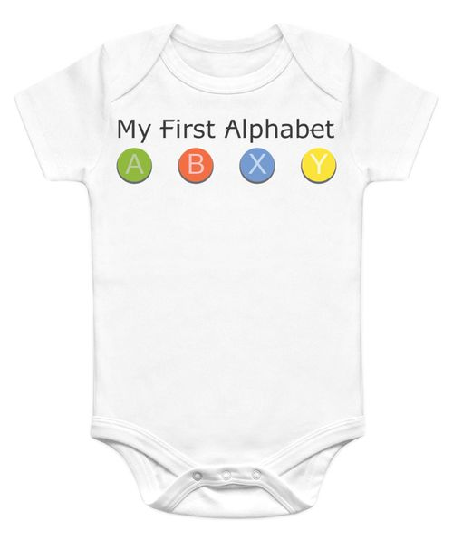 My First Alphabet - XBox Funny Baby Onesies