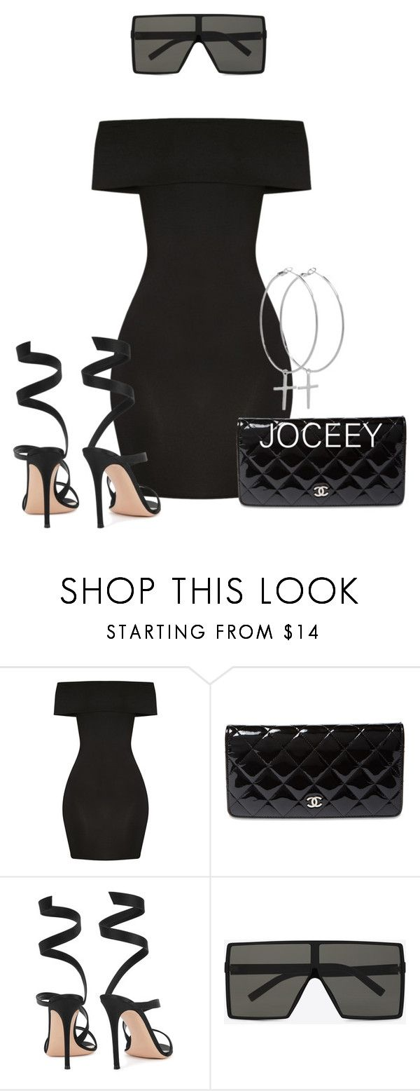 """Untitled #816"" by styledbyjoceeyb ❤ liked on Polyvore featuring Chanel, Gianvito Rossi, Yves Saint Laurent and Kiki Minchin"