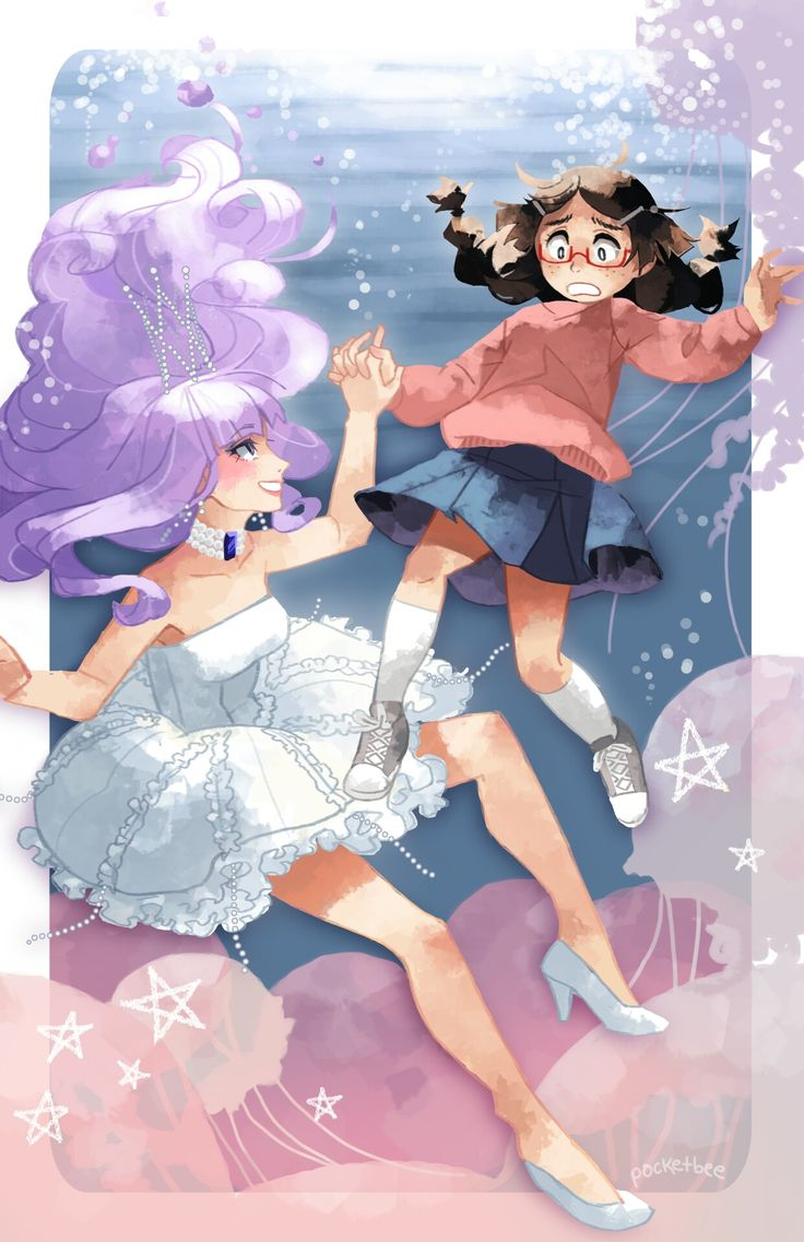 Tsukimi and Kuranosuke from princess Jellyfish