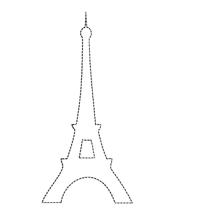Eiffel Tower Applique Outline - DIY crafts, decorations, paper crafts, fabric sewing & transfers.  Paris chic inspirations.
