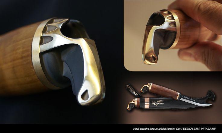 Moose head (Hirvenpää) knife by Marttiini. Design Sami Viitasaari.