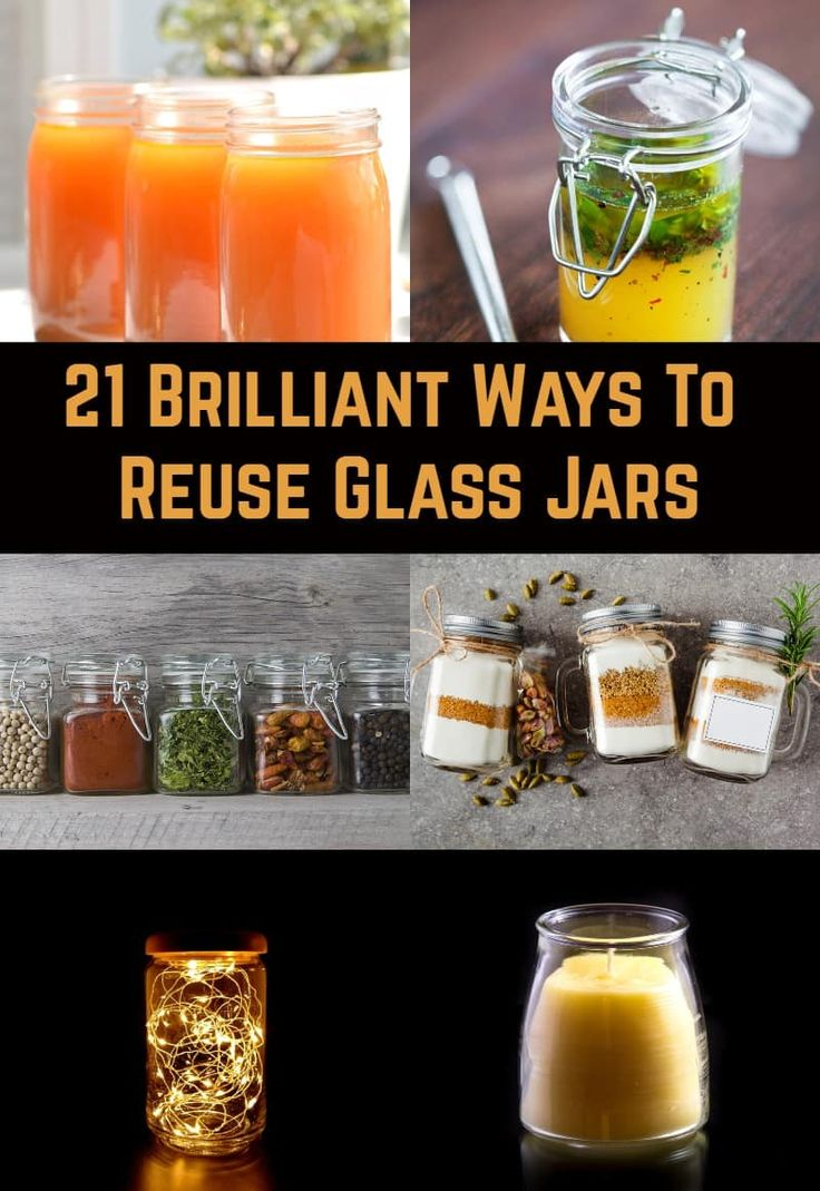 21 brilliant ways to reuse glass jars in 2020 glass jars