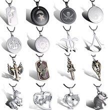 Новый прохладный из нержавеющей стали ожерелья серебро YinYang круглый животных унисекс подвеска кожа ожерелье старинных мужчины женщины ювелирные изделия(China (Mainland))