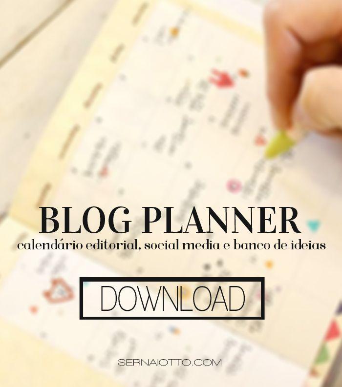 Blog Planner: organize o seu blog com esse planner gratuito (e em português)!