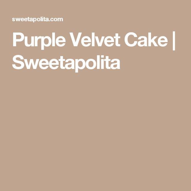Purple Velvet Cake  | Sweetapolita