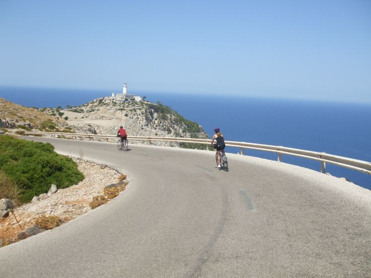Lighthouse of Formentor. Cycling in Mallorca.