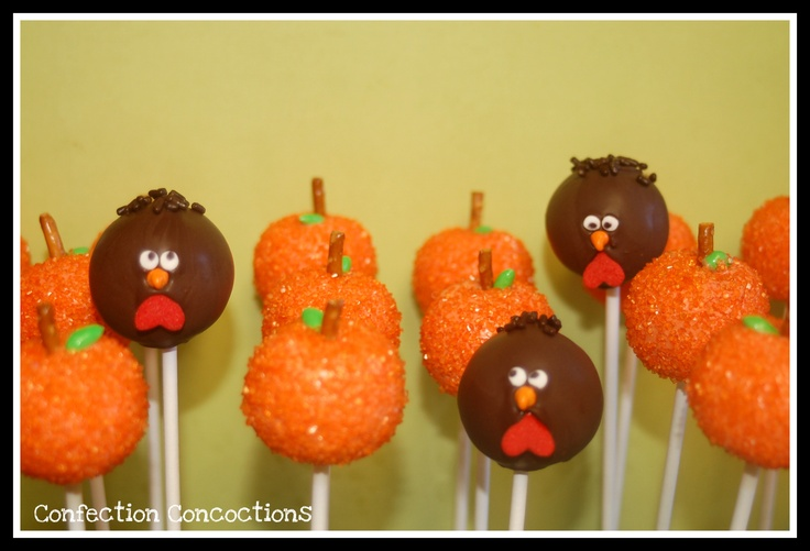 Cake Pop Ideas For Thanksgiving : 135 best images about Thanksgiving on Pinterest