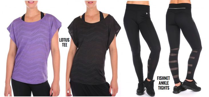 Stylish tees and cool leggings from Pure Lime