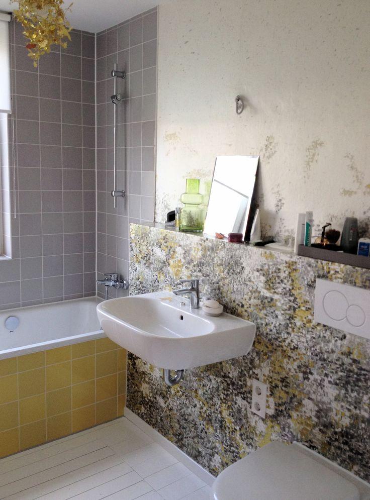 Haus ELF Elternbad abwaschbare Tapete
