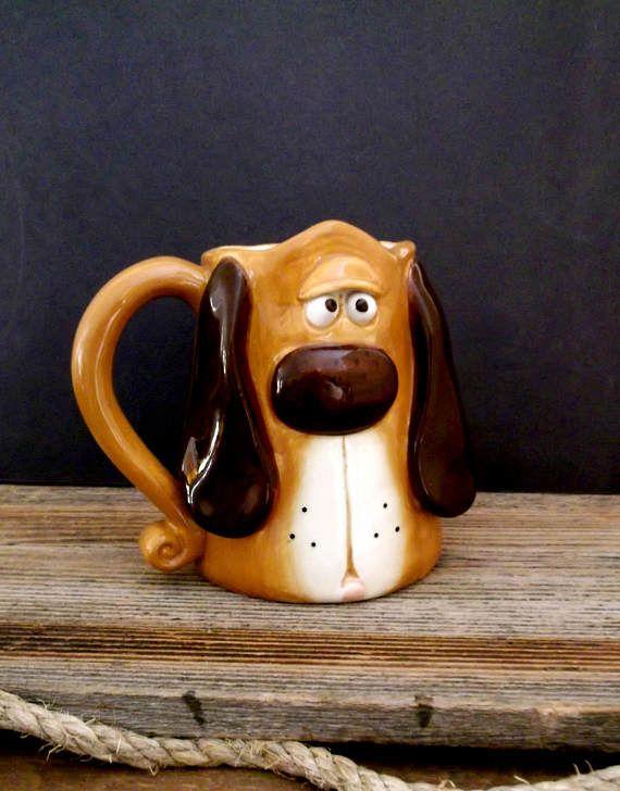 Vintage Ceramic Pottery Mug Glazed Pottery by happenstanceNwhimsy