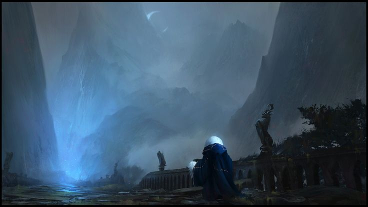 Neige : The Ancient Bridge, Timothée MATHON on ArtStation at https://www.artstation.com/artwork/K2kly