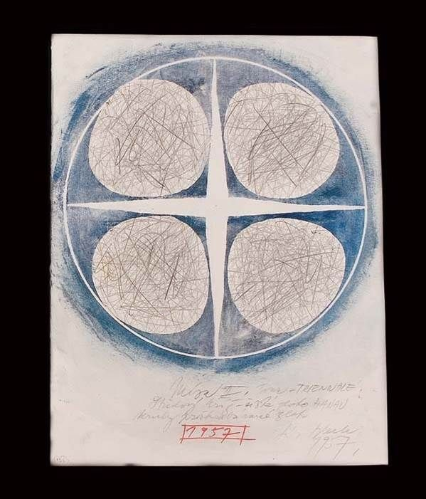 Lubomir Blecha, design for decorative glass disk, 1957, pencil and gouache washout by water on paper, , M: 44,0 x 32,0 cm, UMPRUM Prague, Czechoslovakia