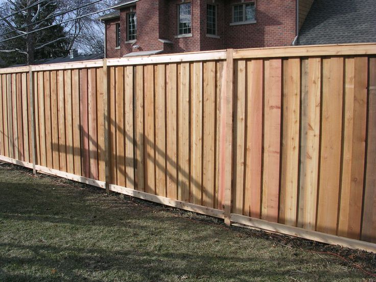 Board and batten fence backyard plants garage ideas for Types of fences