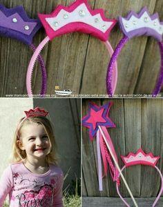 Corona y varita mágica para princesas