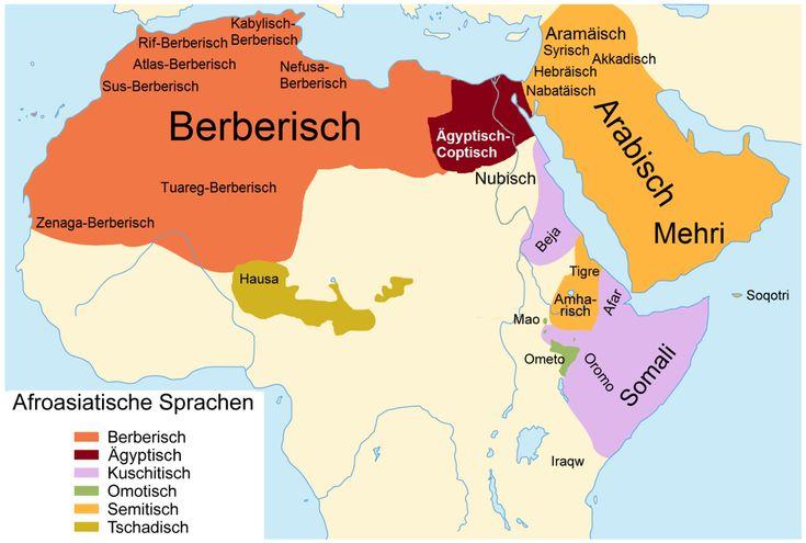Afro-Asiatic languages - Karte der Afroasiatischen Sprachen - Semitic languages - Wikipedia