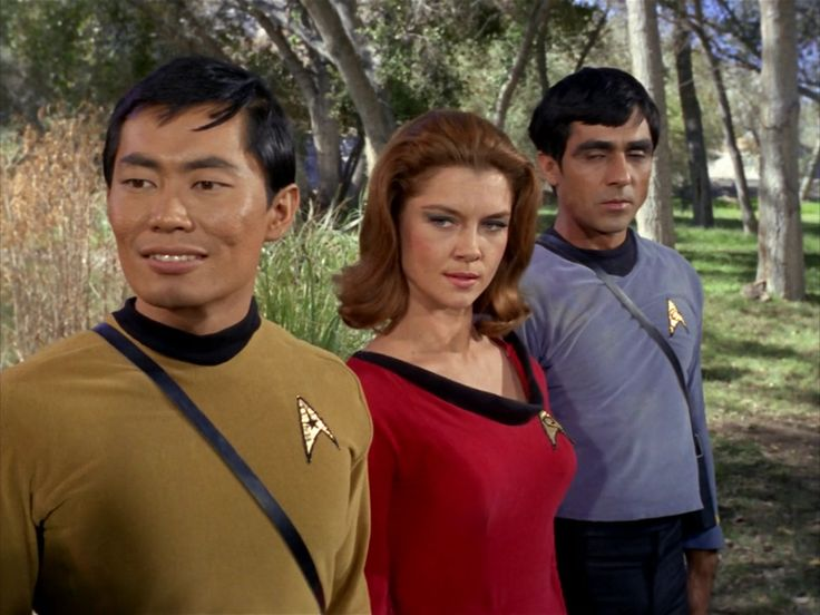 StarTrek: Obviously SHE was only in this one episode. But why isn't HE wearing a redshirt?
