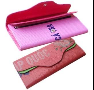Fair Trade Recycled rice bag Woman long wallet